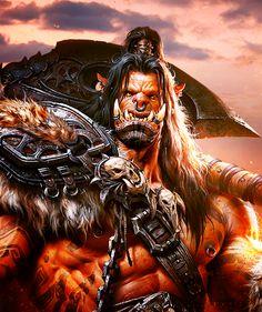Grom Hellscream (WOW) (Tumblr) Grom Hellscream, Garrosh Hellscream, World Of Warcraft, Game Of Thrones Characters, Fantasy, Tattoo, Fictional Characters, Art, Art Background