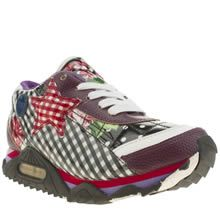 womens iced by irregular choice black & pink big star trainers