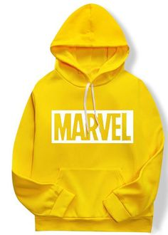 2019 new marvel hoodies for men and women high quality long-sleeved men's casual sportswear hoodies marvel print hoodies for men Marvel Hoodies, Sports Hoodies, Yellow Hoodie, White Hoodie, Printed Sweatshirts, Hooded Sweatshirts, Monogram Hoodie, Looks Cool, Tanks