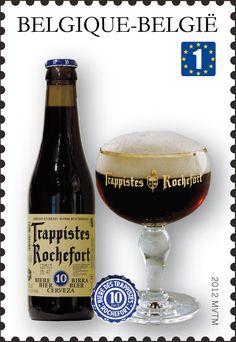 Sello: Trappist Beers: Rochefort (Bélgica) (Trappist beers) Mi:BE 4244,Bel:BE 4198