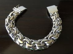 Mens 925 Sterling Silver Thick and heavy chain link bracelet chinese model…