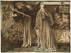 Sir Launcelot in the Queen's Chamber  DG Rossetti
