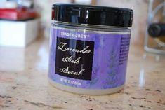 Trader Joe's Lavender Salt Scrub The Best Scrub Ever! Amazing. Transforms dry feet in one use.