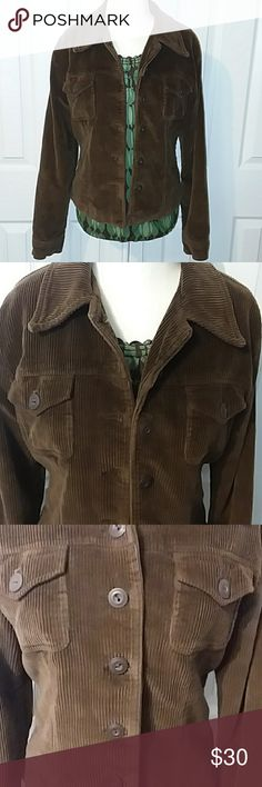 """Vintage (90's) American Eagle Corduroy Jacket Brown Corduroy Jacket from American Eagle Outfitters. Vintage 1990's, Great Vintage Condition. 6 Button Closure.  Front Chest Button Flap Pockets. Stylish Buckle Detail on the Back. Fully Lined.  Shell 100% Cotton. Lining 100% Acetate. All measurements are appoximate laying flat and unstretched. Armpit to Armpit 19"""". Shoulder to Hem 23"""". Armpit to Cuff 19"""". Shoulder to Cuff 24"""". Size M American Eagle Outfitters Jackets & Coats"""