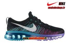 Boutique Officiel Nike Flyknit Air Max GS Femme/Enfant Noir/Blanc/Violet  venin
