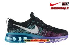 Boutique Officiel Nike Flyknit Air Max GS Femme/Enfant Noir/Blanc/Violet  venin