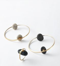 IIIINSPIRED: contrasting values _ millie behrens creates jewelry out of gold, silver, and pebbles