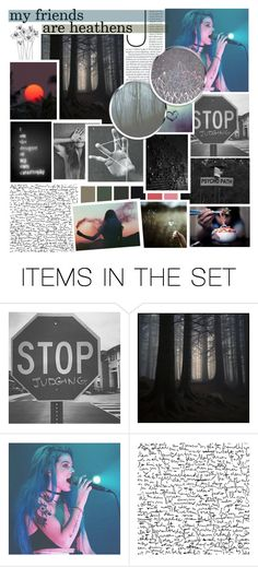"""""""All my friends are heathens"""" by taytay0514 ❤ liked on Polyvore featuring art"""