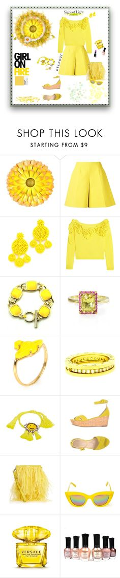 """""""Primrose Yellow....Color of Fashion Group"""" by deborah-518 ❤ liked on Polyvore featuring WALL, Delpozo, Mochi, Vivienne Westwood, Bulgari, Shourouk, Twin-Set, Marques'Almeida, Quay and Versace"""
