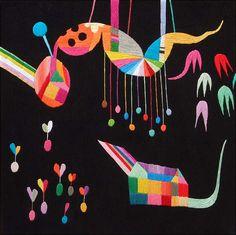 Takashi Iwasaki - embroidered art