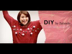 DIY Weihnachtspullover | Christmas Sweater Tutorial mit Zalando Deutschland - YouTube