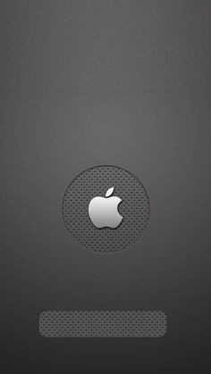 !!TAP AND GET THE FREE APP! Lockscreens Locked Unicolor Metallic Grey Apple Minimalistic Simple Apple Logo HD iPhone 5 Wallpaper