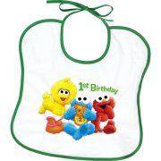 Sesame Street 1st Birthday baberos de plástico (2ct)