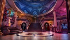 anime fantasy episode backgrounds lobby scenery castle gaming stairs landscape places massive rooms gameart