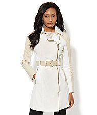 Hooded Crop Trench - New York & Company