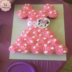 20 Pretty Picture of Cupcake Cakes For Birthdays . Cupcake Cakes For Birthdays Minnie Mouse Cupcake Cake Birthday Ideas In 2019 Minnie Mouse Minnie Mouse Cupcake Cake, Mini Mouse Cupcakes, Minni Mouse Cake, Minnie Mouse Birthday Cakes, Minnie Mouse Baby Shower, Cupcake Birthday Cake, Birthday Cake Decorating, Cupcake Cakes, Panda Cupcakes