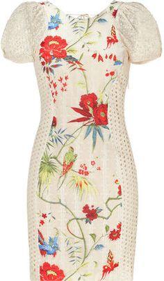 ShopStyle: Roberto Cavalli Beige Floral Combo Dress