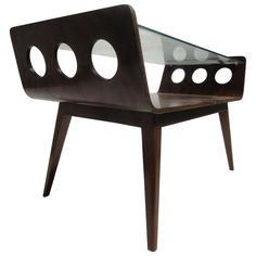 Plywood coffeetable by W. Lutjens, De Boer Gouda Holland 1950's