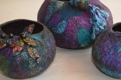 Felt vessels by Wendy Bailye