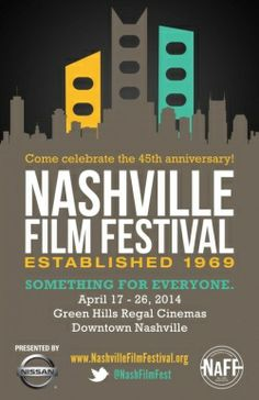 The Nashville Film Festival (NaFF) is celebrating its 45th Anniversary by expanding to 10 days and opening a downtown location with free films for the public.  The new dates cover two weekends, from Thursday, April 17 to Saturday, April 26, 2014. www.NowPlayingNashville.com  #FilmFestival