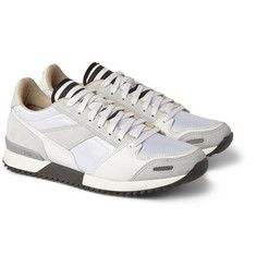 AMI Panelled Suede Sneakers
