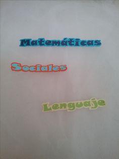 Letras y  frases. Material para manualidades #Scrap
