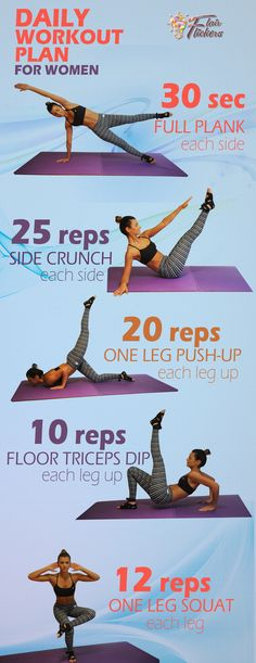 Infographic - Best Home Workout Routine for Women to Tone Your Body in 3 Weeks