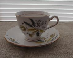 Colclough Fine Bone China  Tea Cup and Saucer by TimeGoneByVintage, $24.99