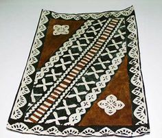 Tapa Cloth from Fiji, almost as beautiful as the Fijians