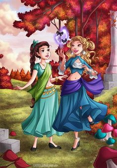 Laerith and Niobhai by HollyBell on DeviantArt Disney Concept Art, Disney Art, Father Images, Character Art, Character Design, Types Of Art Styles, Rp Ideas, Royal Art, Fantasy Castle