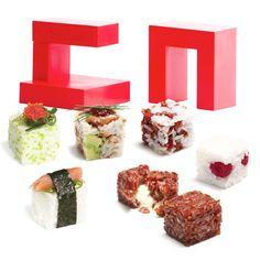 Rice Cube Sushi Maker (and other bite size foods and you don't have to limit yourself to sticky rice)