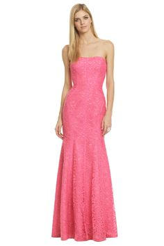 ML Monique Lhuillier Sweet As Candy Gown - another top contender....hard to find intricate floor length gowns in pink!