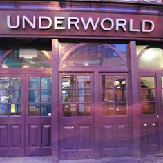 The Camden Underworld is a nightclub located below the pub The Worlds End. It is a famous live venue for up and coming bands, mostly pretty heavy stuff. In fact, their website gives some of the most amazing band and genre-of-heavy-heavy-metal names anywhere. They can also cater for private parties of up to 500 people. But who knows 500 people?