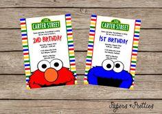 Sesame Street  Elmo and Cookie Monster by papersandpretties, $7.99