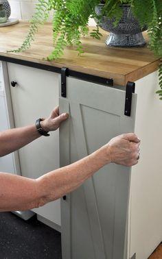 Attaching the DIY Mini Barn Doors