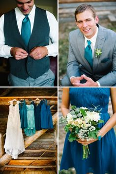 Turquoise Rustic Wedding Details » Michele Hart Photography