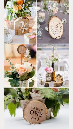 Cool Rustic Wooden Table Numbers For Weddings