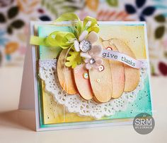 Thoughts of a Cardmaking Scrapbooker!: Water Colored Pumpkins!