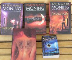 5 Books Karen Marie Moning Shadowfever Dreamfever Bloodfever Faefever Darkfever