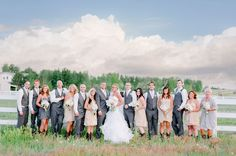 Country bridal party | beige and grey | Boulder Wedding Photography | Autumn Cutaia Photography