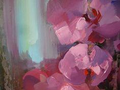 Blossoms- acrylic on canvas (detail) 80/80 cm, 2018, Derecichei Simona Mihaela