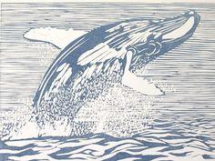 Linocut print by Ariel Hansen Strong