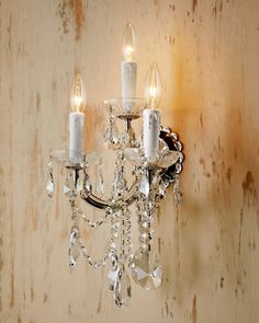 Bathroom Chandelier Sconces modern glam crystal and sheer shade sconce | sheer shades