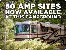 50 AMP SITES NOW AVAILABLE AT THIS CAMPGROUND= Yosemite campground
