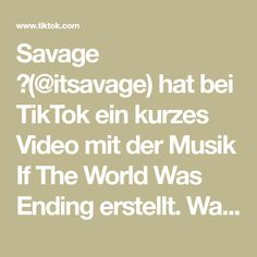 Savage 😈( hat bei TikTok ein kurzes Video mit der Musik If The World Was Ending erstellt. Wait Till End Surprise 😊💰 Luckily This Guy Did The Right Thing ❤️ , And His Prize Arrived 😊💰 Savage, Videos, Texts, Guy, Music, Video Clip, Text Messages