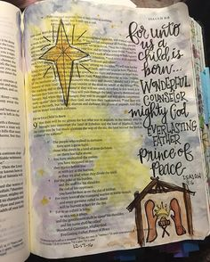 More than a special baby.... #ilovecrinklypages #illustratedfaith #communitychristiancreatives #ipaintinmybible #bibleartjournaling #biblejournaling