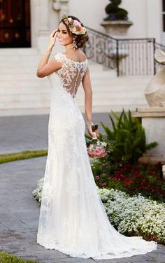 Taft en Tule Wedding Dress Stella York Trouwjurk Bruidsjurk Simpel Princes Stoer Lace Open Rug Ivoor Ivory