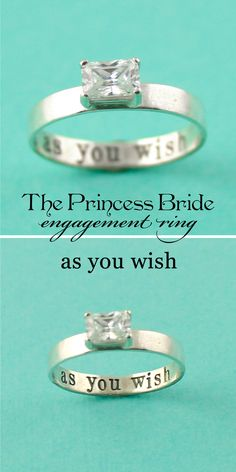 Princess Bride Engagement Ring - As You Wish - Spiffing Jewelry