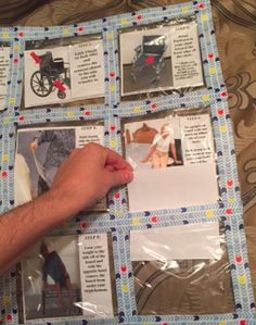 Ziplock Bag Teaching and Learning Quilt: Perfect for a Visual Schedule!