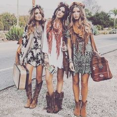 All Clothing, shoes, and accessories (minus suitcase and flower crown) are inspired by Native American Fashion and culture.